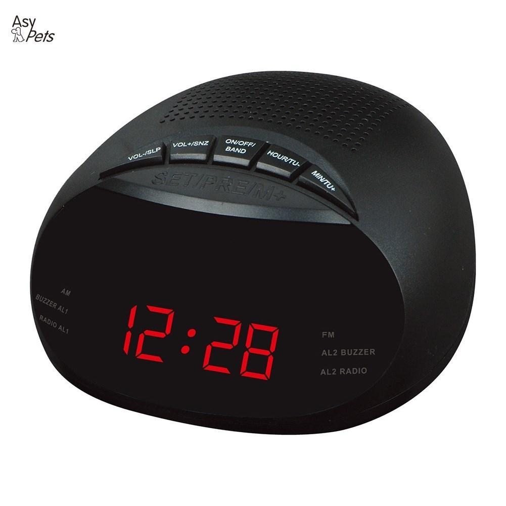 LanLan de reloj controlado LED Despertador con Radio y función Snooze regalo especificación europea-30