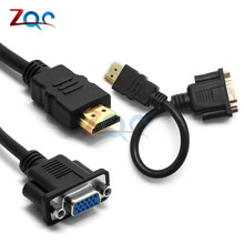 1080P HDMI Male To VGA HD 15 Female Video Adapter Converter Cable For HDTV PC AS
