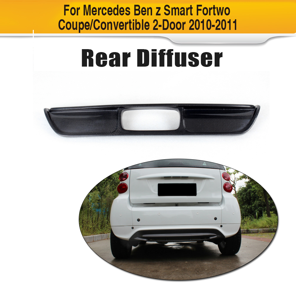 Carbon Fiber Rear Bumper Diffuser Lip Spoiler for Mercedes Benz Smart Fortwo Coupe 10-13 Convertible Car Styling fashion polyester long sleeves dress black page 4