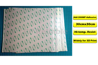 300mm 300mm 30cm 3M 468 Double Sided Adhesive Sticker High Temperature Resistant For 3D Printer Thermal
