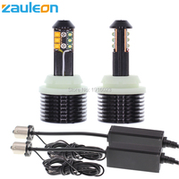 Zauleon 2pcs 1156 PY21W P21W White/Yellow Dual color for Front DRL/Turn Signal Light Canbus No Error No Hyper Flashing Bulb