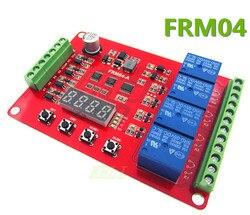 HAILANGNIAO nowy FRM04/cztery wielofunkcyjny moduł przekaźnikowy/opóźnienia/blokada/cykl/czas/przekaźnik czasowy w Części i akcesoria do drukarek 3D od Komputer i biuro na