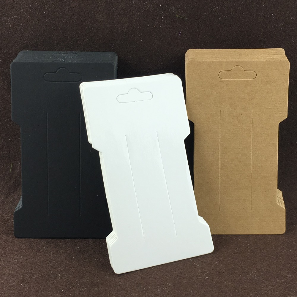200PCS/Lot 11.5x6.6cm Kraft Hair Clip Cards For Packing Hairpin And Used For Hair Accessory Packaging Cards