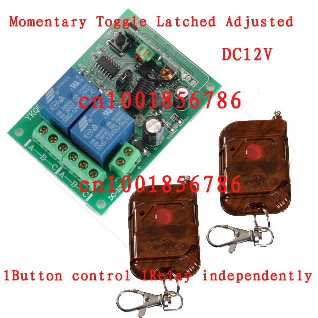 12V 2CH Wireless Remote Control Switch System 2 Transmitter &1 Receiver 1CH 315/433MZH With Relay Indicator Learning Code wireless pager system 433 92mhz wireless restaurant table buzzer with monitor and watch receiver 3 display 42 call button