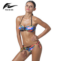 Brazilian Bikini Swimwear 2016 Sexy Bandage Bikini Sets Women Bikini Swimsuit Fashion Push Up Low Waist