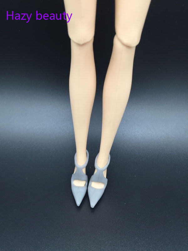 Doll Shoes High Heels Gray Shoes For BB Dolls BBI909