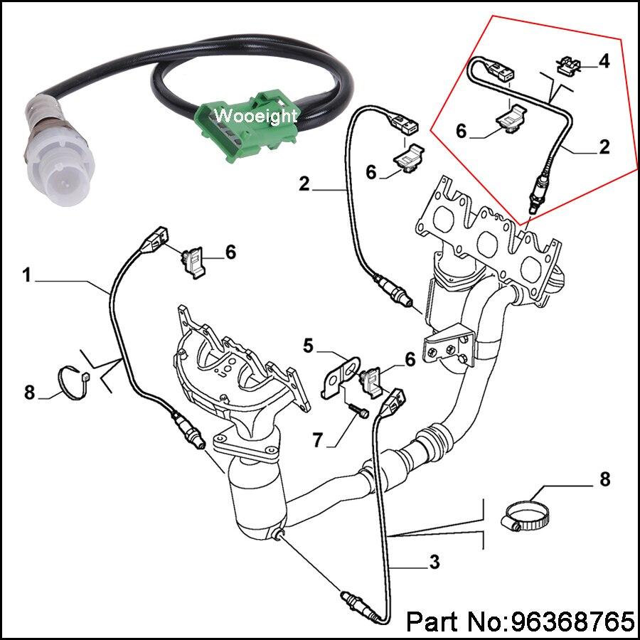 For Citroen AX Peugeot 106 306 1.6 1.4 1.1 Front 4 Wire Universal Lambda Sensor