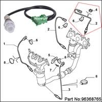 Wooeight nowy 4 Pin 96368765 O2 tlenu sondy Lambda czujnik dla Peugeot 206 207 306 406 407 Citroen C2 C3 C4 C5 C6 w Czujniki tlenu w układach wydechowych od Samochody i motocykle na