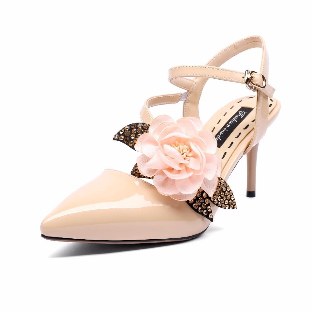 Femme red Boucle Chaussures Sandales Beige Cm Haut black Sangle Talons 8 Furtado Nouveau Sexy De 2018 Mode Fleurs Nude Arden Rouge Pour Été Mariage gaqxw7nTxH