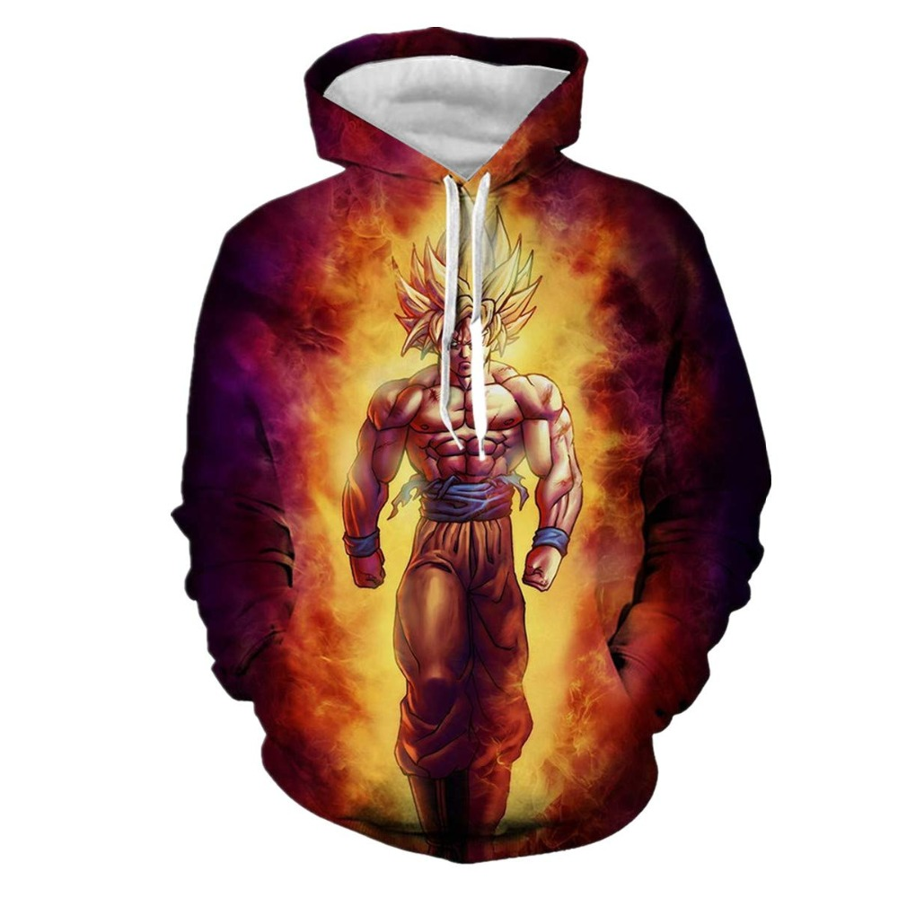 2019 Newest Harajuku men/women Sweatshirts Dragon Ball Z Goku Boy Long Sleeve Hoody Anime Outerwear 3D Hoodies Pullovers US size