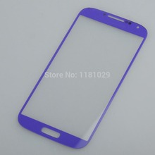 10pcs/lot Free Shipping Blue Color Front Glass Lens for Samsung Galaxy S4 i9500  High Quality New