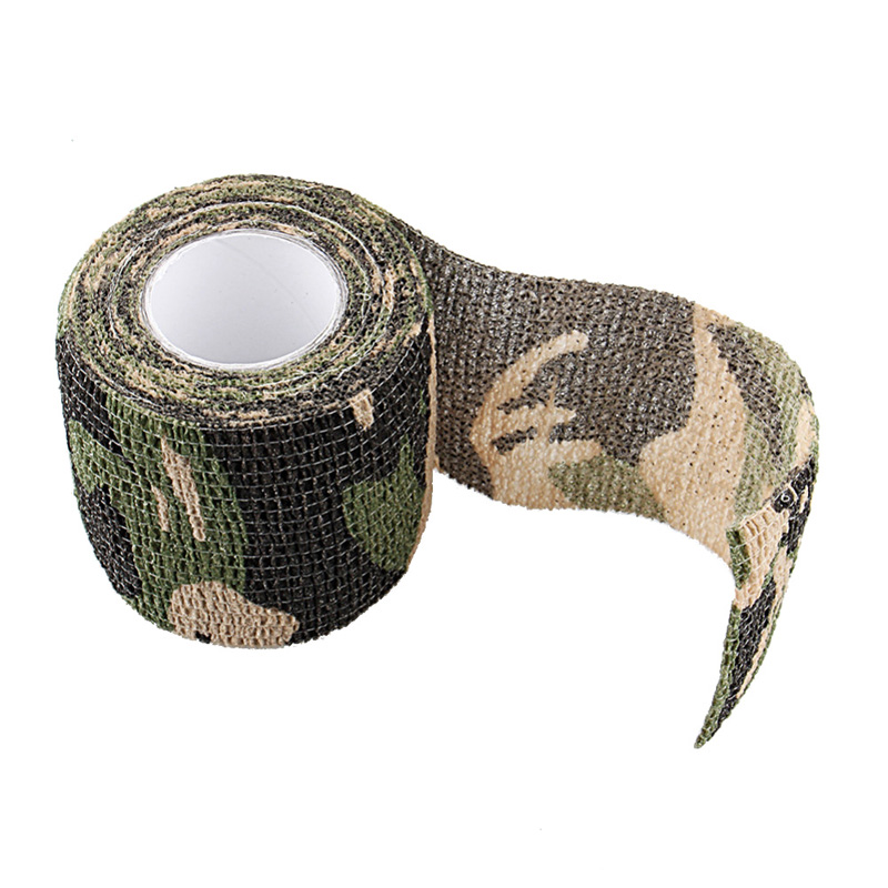 4.5m Self-adhesive Non-woven Roll Camo Stretch Bandage Camping Hunting Shooting Cycling  ...