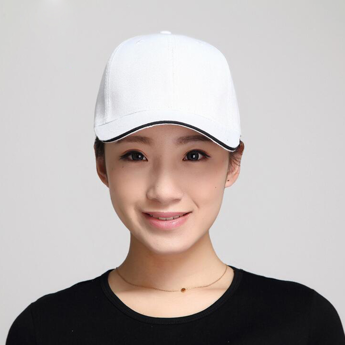 Red Black Blue Pink Gray Dad Hat Hats for Women Men Adjustable Baseball Caps  Ladies Girls Simple Casual Solid Snapback Casquette-in Baseball Caps from  ... 9d427e77b5c