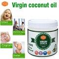 Envío gratuito de la categoría alimenticia 500m16oz puro aceite de coco virgen pelo prensado en frío de aceite de cocina comestible aceite portador de base piel