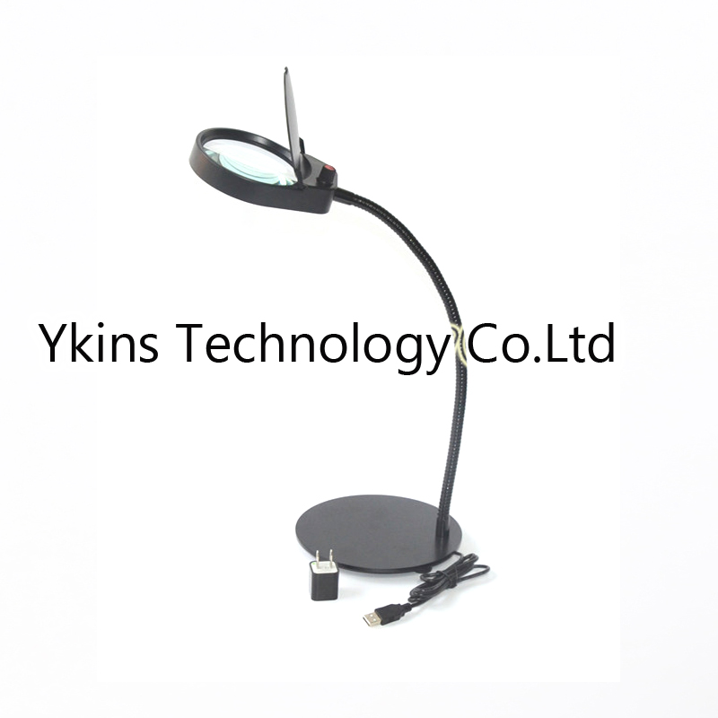 3X 10X 360x168mm table Desk Magnifying Glass with 26pcs LED Lamp for Rea Reading/ Watching /repairing cell phone PCB