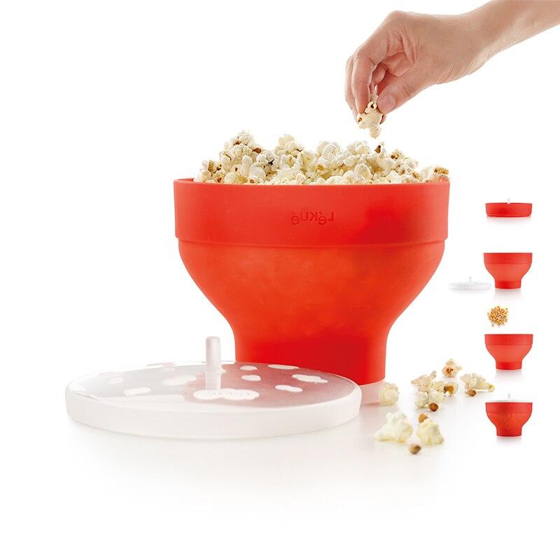 Microwaveable Popcorn Maker Pop Corn Bowl With Lid Microwave Safe New Kitchen Bakingwares DIY Popcorn Bucket