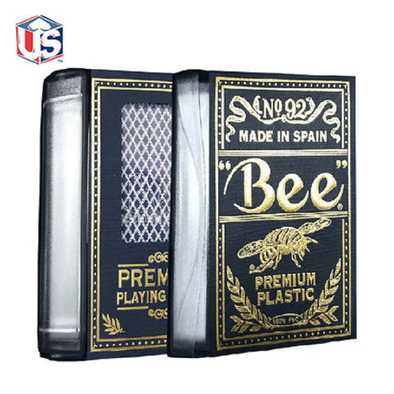 Bee Poker Deck Bridge Size Plastic Durable Waterproof Playing Cards Magia Collectable Poker Magic Tricks Props for Magician