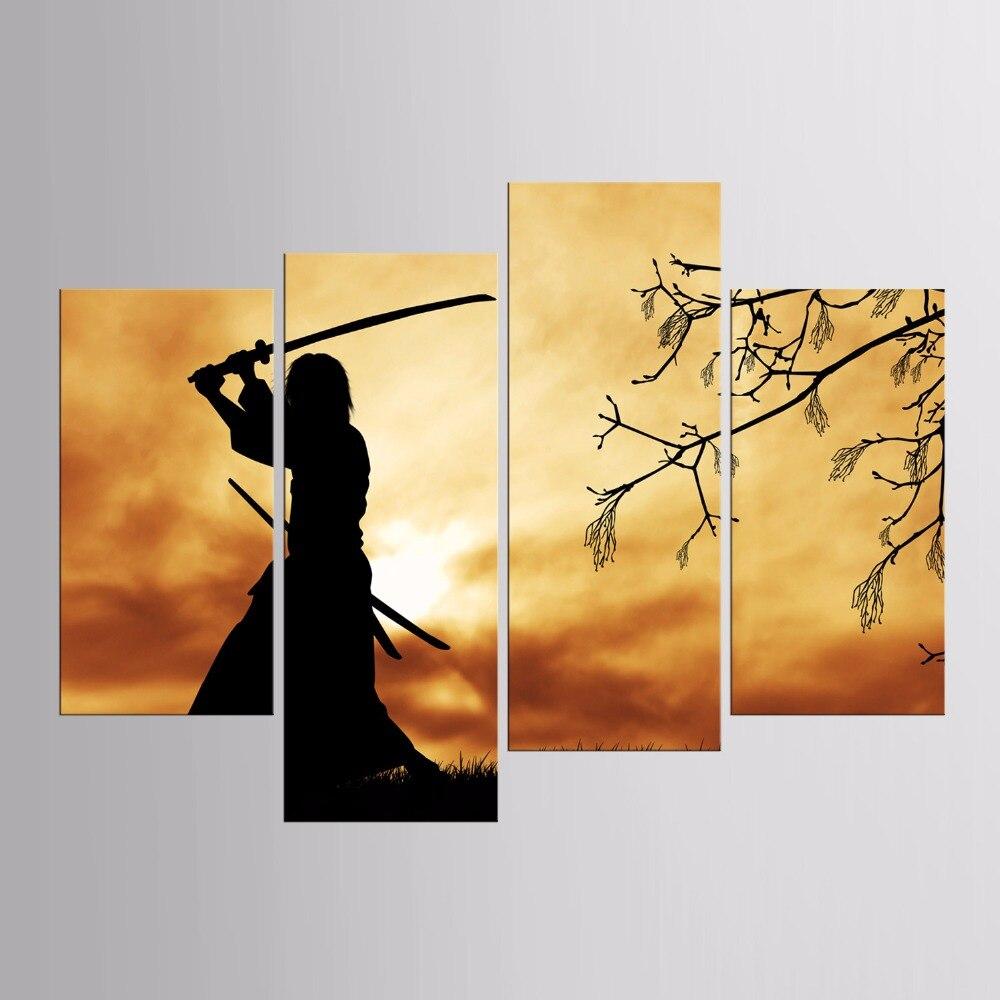 Enmarcado HD impreso japonés ninja serie lienzo pintura en la pared ...