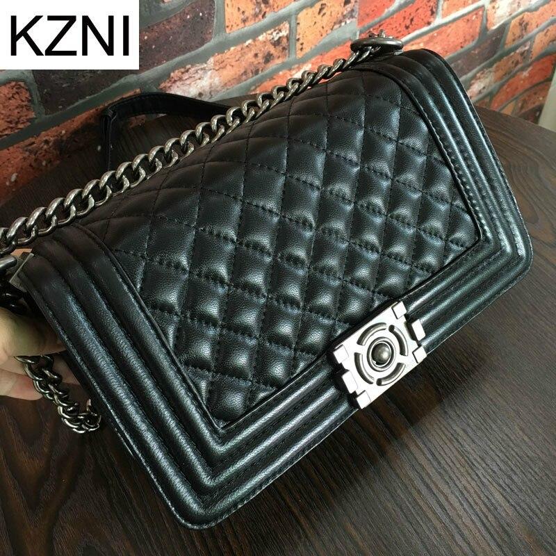 KZNI crossbody bags for women messenger bag women leather excellent brand bolsas femininas bolsas de marcas famosas L010347