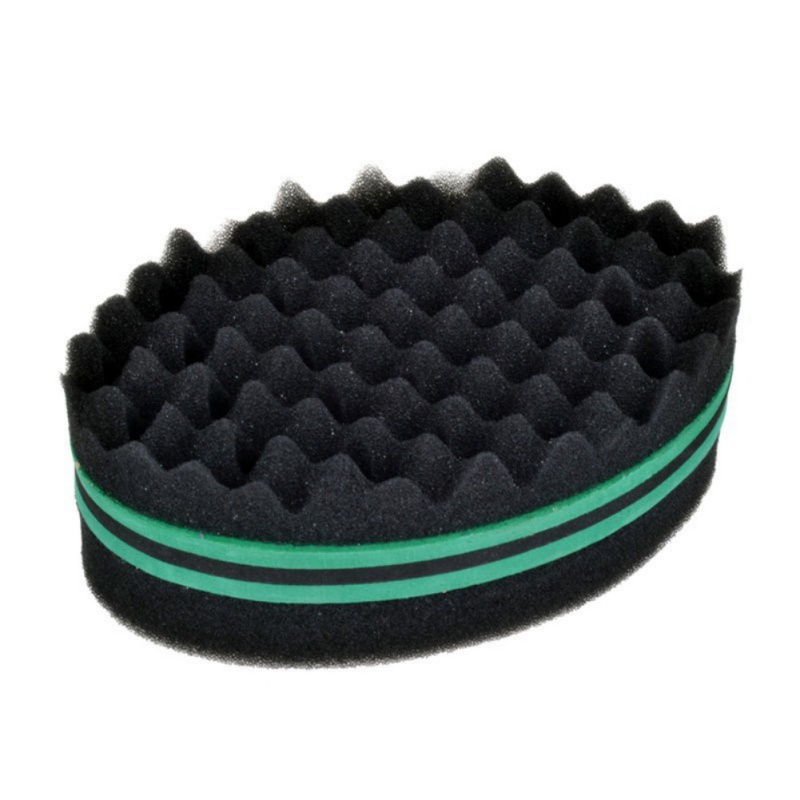 Afro Curly Weave Oval Hair Brush Makeup Sponge Double Sided Flat Large Hole Wavy Small Hole Dreads Sponge Brush
