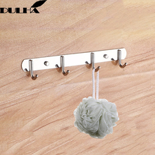 Stainless Steel Wall Robe Hook 4 Hooks for Hanging Clothes towel Coat Hat Holder Rack Home Kitchen Bathroom Hanger Free Shipping