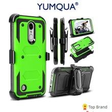 Yumqua мобильного телефона чехол для LG K8 2017 задняя крышка сумка для LG 2017 K8 aristo/LV3 3 Чехол обязанность защита и ремешках