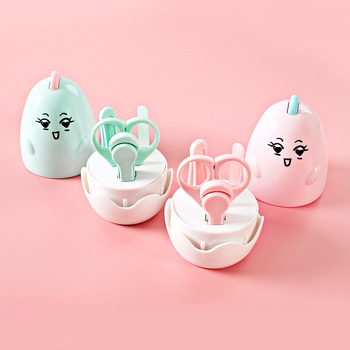 4-In-1 Baby Beauty Multiple Nail Care Set Cute Chicken Shape Includes Clippers / Scissors / Tweezers / File With Box Baby Care