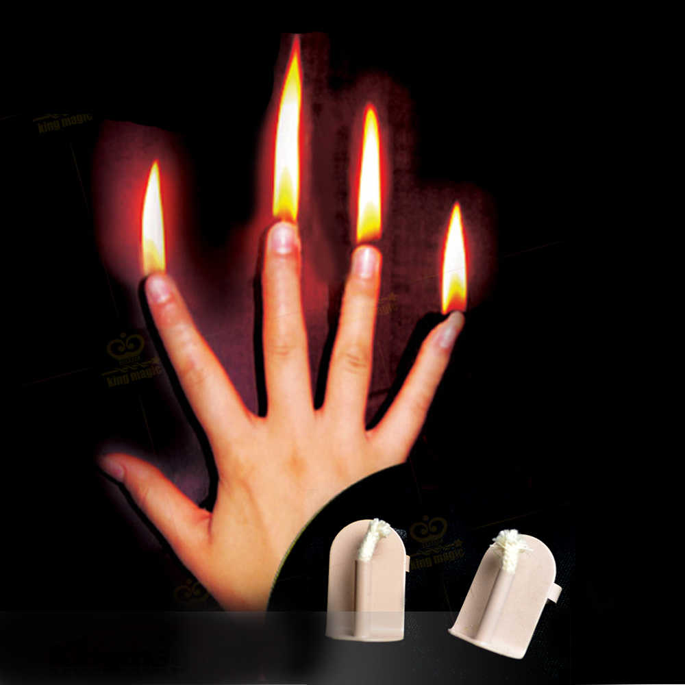 1 Set Finger Fire Magic Stage Magic Prop professional Magic tricks Magician Gimmick Illusion Magic Tool