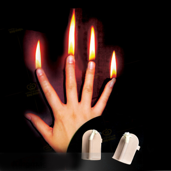 1 Set Finger Fire Magic Stage Magic Prop professional Magic tricks Magician Gimmick Illusion Magic Tool super quality deluxe floating table with anti gravity vase magic tricks magician stage illusion gimmick props