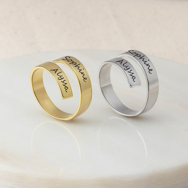 Personalized Stainless Steel Adjustable Ring 5