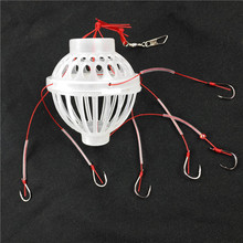 Hot Sale Fishing Tackle Sea Box Hook Monsters with Six Strong Carbon Steel + Plastics Carp Spherical Explosion Hooks Tool