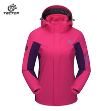 Outdoor Winter Ski Waterproof Jacket Two-Piece Large Size Fleece Warm Jacket Windproof Hood Sport waterproof jacket for ladies