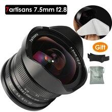 7artisans 7.5mm f2.8 fisheye lens 180 APS-C Manual Fixed Lens For E Mount Canon EOS-M Mount Fuji FX Mount цена и фото