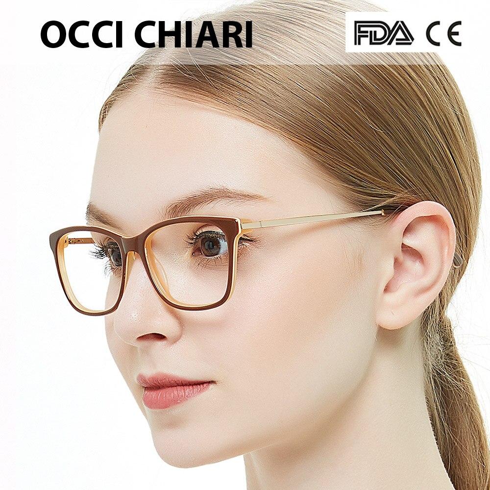 OCCI CHIARI Blue Light Blocking Glasses Frame Women Trend Computer Eyewear Optical Clear Lens Eyeglasses Prescription Spectacles