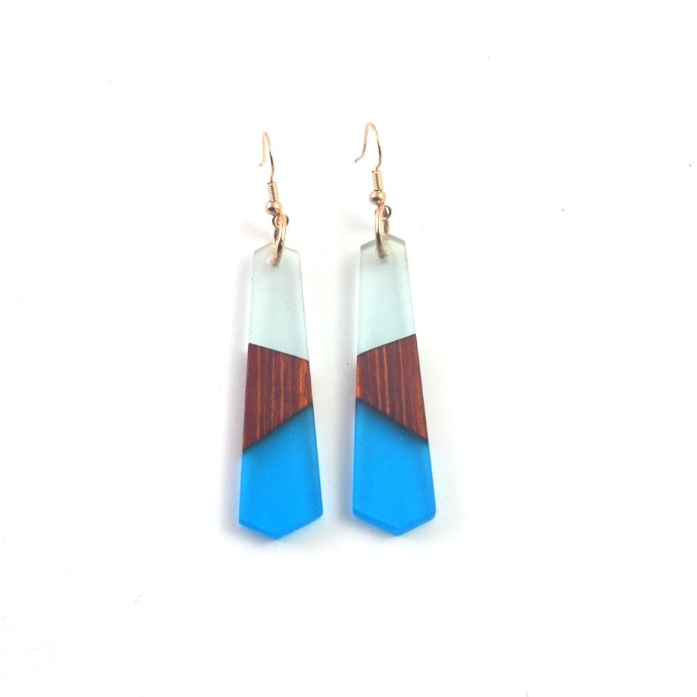 Vintage wood resin Earrings