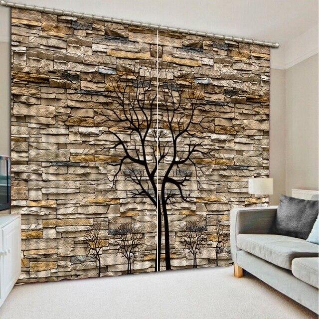 Benutzerdefinierte 3d cortinas Wand zweige 3d wohnzimmer vorhänge 3d ...