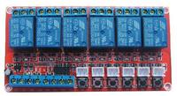 Free Shipping 1pc 6 Way Self Locking Relay Module Control Voltage High Current