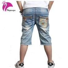 Été Bébé Garçons Courtes Jeans Taille Élastique Casual Denim Pantalon Enfants Vêtements Pantalons Tout-petits Enfants Vêtements Pantalon