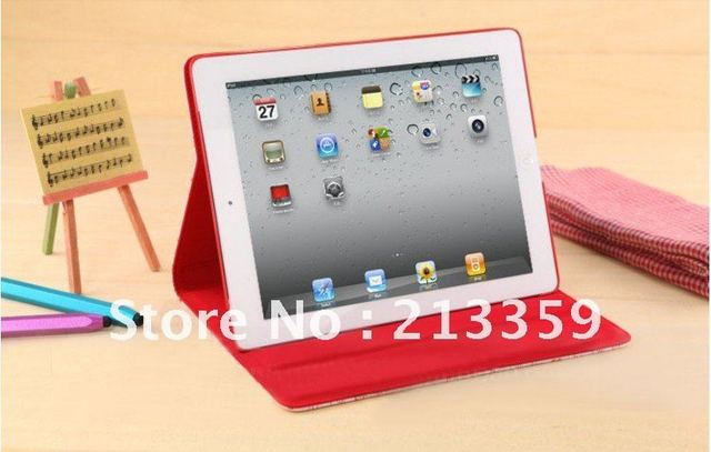 Free Shipping for Intelligent Magnetic Flap Leather case For Ipad 3 smart pouch, backpacks leather handbags hello kitty hot!