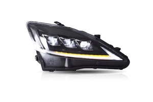 Image 5 - EMS ship!2pcs LED IS300 headlight for IS250 2009 2010 2011,is300 bumper light daytime lamp DRL car accessories IS 300 IS 250