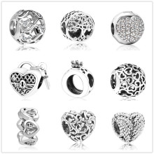 3258c9a5956b 2019 nuevo hueco Mickey life tree crown Bead fit Original Pandora charms  plata 925 pulsera abalorio