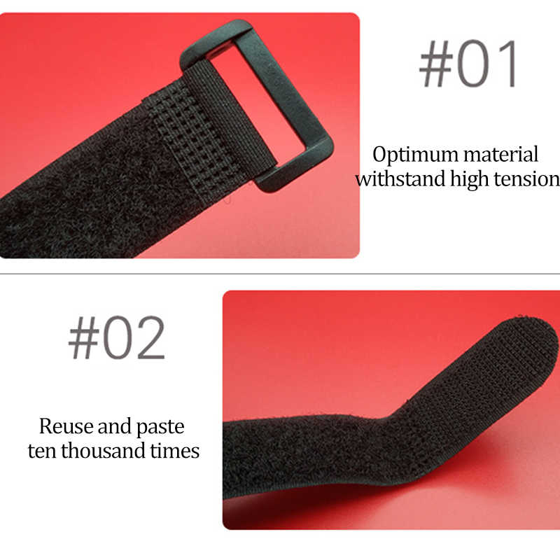 Velcro Nylon Kargo Tali pengikat Sabuk Bagasi Dudukan Pengikat Tali Belt Motor Mobil Berkemah di Luar Ruangan Tas Sihir Velcro