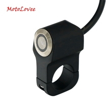 Motolovee Motorcycle Modification Part 22mm Handlebar Aluminium Alloy Switch with 4 Choices