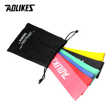 AOLIKES Resistance Bands 6 Levels Exercises Elastic Latex Fitness Training Yoga Loop Band Workout Pull Rope CrossFit Equipment