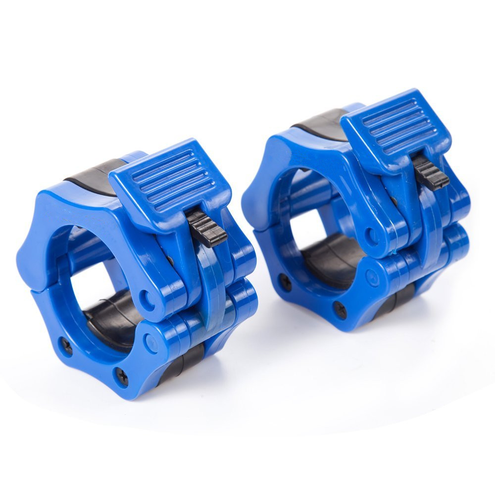 2Pcs Olympic 2/'/' Spinlock Collars Barbell Dumbell Clips Clamp Weight Bar Locks