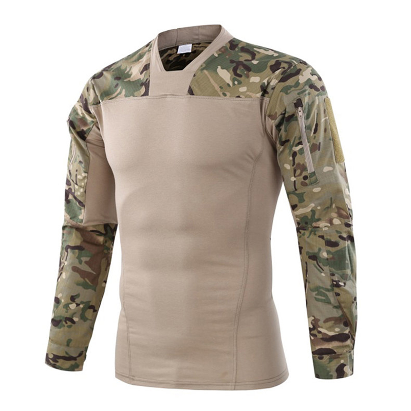 Military Uniform Combat Shirt Men Assault Tactical Camouflage US Army T Shirt Male Airsoft Paintball Outdoors Long Sleeve Shirts