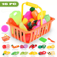Детские ролевые пластиковые игрушки для еды, ролевые игры, кухонные фрукты, овощи, игрушки для еды, набор для резки, Подарочная игрушка, ролевые игры для детей