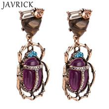 Fashion Women Vintage Earrings Bohemian Style Pendant Exaggerated Insect Animal Shape Rice Beads Earring Jewelry Gifts