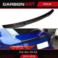 Багажник спойлер для Audi RS3 A3 S3 8 V 2017 2018 стайлинга автомобилей Углеродные Частицы A3 корпусный набор задний бампер спойлер s3 задний wing2013 +
