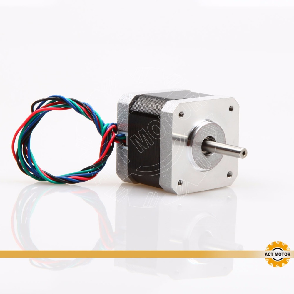 Free shipping from Germany!ACT 1PC Nema17 StepperMotor 17HS5425 2Phase 70oz in 48mm 2.5A 300mm Wire Mill Cut Engraver 3D Printer